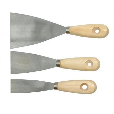 Набор шпателей 3 пр. дер. ручка (30,50,80 мм) TOYA