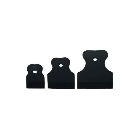 Набор шпателей резиновых (60, 80, 100мм) черные ТЕХМАШ