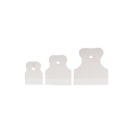 Набор шпателей силиконовых (60, 80, 100 мм) белые